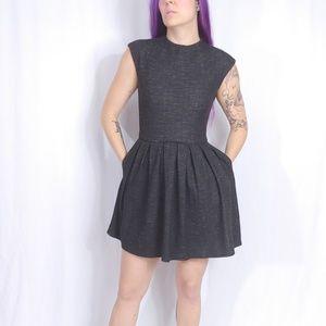 Aritzia Talula Waldorf Pleated Shirt Dress SZ 4